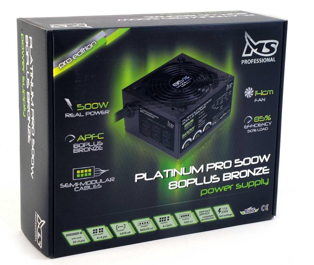 MS Platinum Pro 80+ 500W